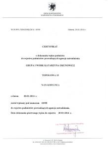 certyfikat Grupa I work 001